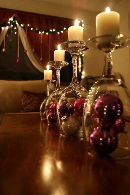decoración navideña copas