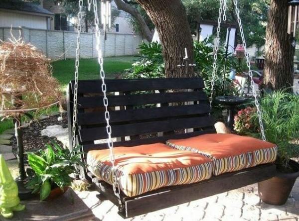 sofa colgante palets jardin